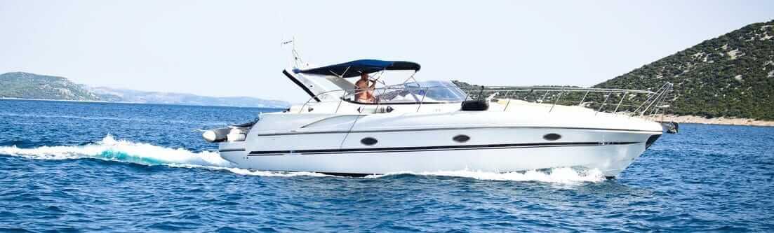 motor boat cruising